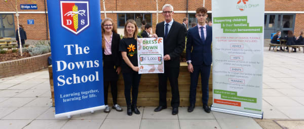 Students at The Downs School raise over £1,000