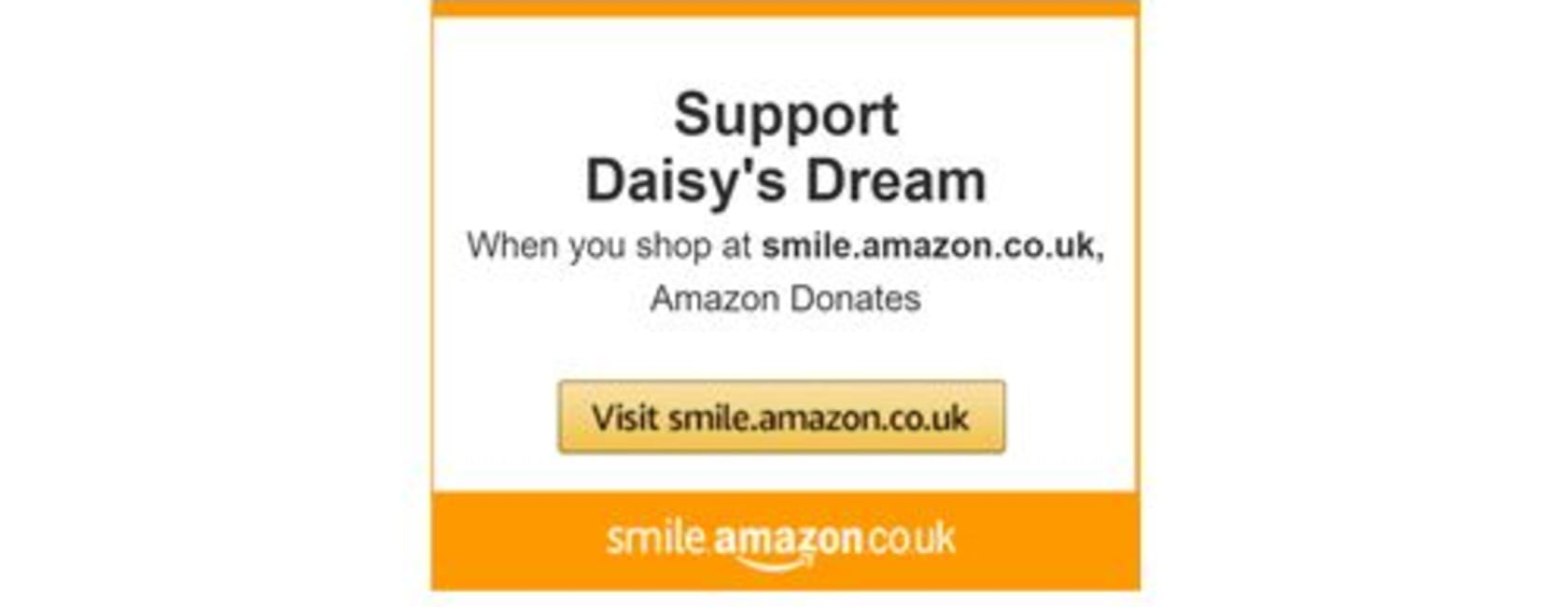 Donate to Daisy's Dream as you shop with AmazonSmile