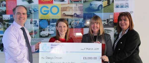 Gowrings Mobility choose Daisy's Dream as Charity of the Year