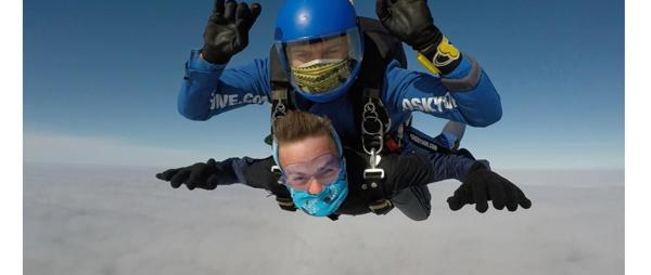 Super Skydive birthday fundraiser raises over £2500